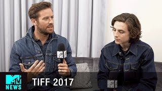 Video Timothée Chalamet & Armie Hammer on the Sex Scene In 'Call Me By Your Name' | #TIFF17 | MTV News MP3, 3GP, MP4, WEBM, AVI, FLV Juni 2018