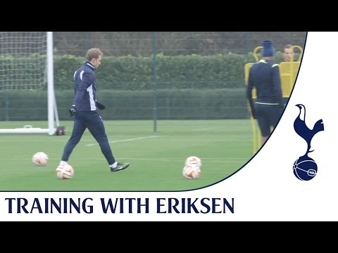 Video: Training with Christian Eriksen