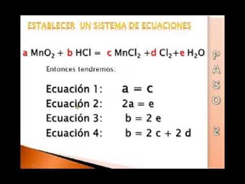 balanceo por metodo algebraico