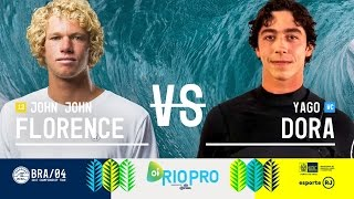 John John Florence battles Yago Dora in Round Three, Heat 6 at the 2017 Oi Rio Pro. Subscribe to the WSL for more action: https://goo.gl/VllRuj Watch all the ...