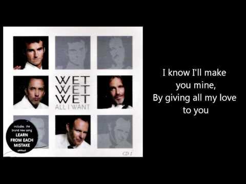 Tekst piosenki Wet Wet Wet - All i want po polsku