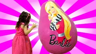 Barbie Life In The Dreamhouse GIANT Surprise Egg Opening - Dolls, Princess Toys + Playhouse