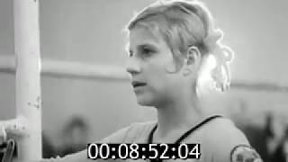 From Soviet newsreel, a brief report on the 1974 Army Championships. Korbut and Grozdova.