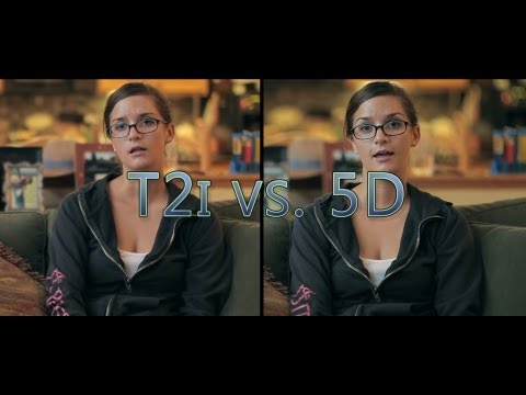 T2i - http://www.learningdslrvideo.com/canon-5d-mkii-vs-the-canon-t2i/ Ryan Connolly did good comparison of these cameras some time ago, but since I like to do my ...