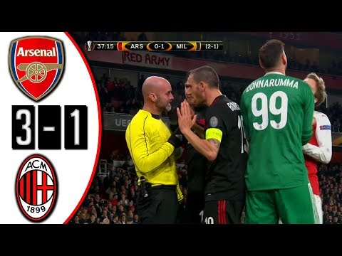 ARSENAL VS MILAN 3-1 GOALS EUROPA LEAGUE 14/03/28