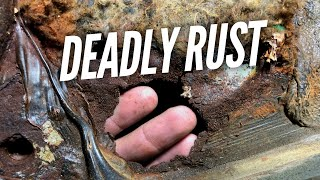I found DANGEROUS Rust under my Seat while Replacing Carpet on my RX-7 by Rob Dahm
