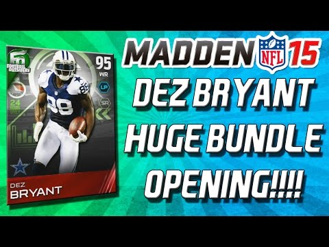 bryant - Madden 15 - Madden 15 Ultimate Team! Football Outsiders Dez Bryant is out! I had to do it! Limited Edition Dez Bryant 95 Overall is in packs so I had to pull a Bundle! All-Pro Packs are also...