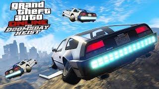 VLIEGENDE AUTO UIT BACK TO THE FUTURE!! - KillaJ - GTA 5 Doomsday Heist DLC