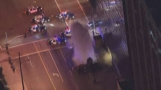 High-speed LA car chase ends in dramatic crash