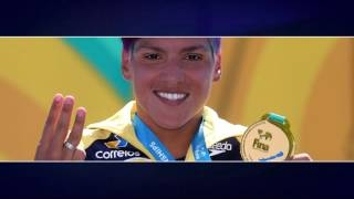 A atleta da Unisanta conquistou o ouro no Mundial de Budapeste na prova de 25km de maratonas aquáticas em Budapeste. Nunca uma mulher havia vencido três vezes essa prova. em 2011 e 2015 a brasileira também subiu no lugar mais alto do pódio.