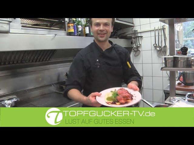 Sellerie-Marzipan Mousseline an rosa Rehrücken   Rezeptempfehlung Topfgucker-T
