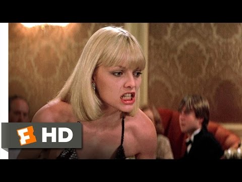 Tony Montana - Scarface Movie Clip - watch all clips http://j.mp/yFtoj3 click to subscribe http://j.mp/sNDUs5 Tony (Al Pacino) has an argument with Elvira (Michelle Pfeiffe...