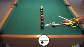 Pool Line-of-balls Drill For Learning Cue Ball Control, From VEPP II ( NV C.8)