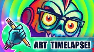 "☢ ""Wacky Doodle!"" || Plaguesworth's Icon (ART TIMELAPSE)"