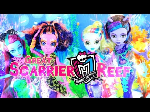 Doll Review: Monster High Great Scarrier Reef - 4K