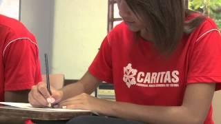 Vídeo Caritas com depoimento da Juliana