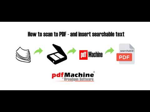 Use pdfMachine to scan paper to PDF with searchable text