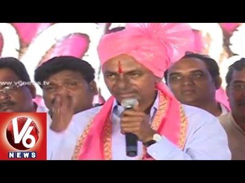 TRS KCR Speech in Jogipet Meet : Do not Encourage Andhra Parties
