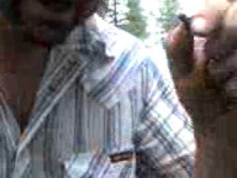 Deadfall Trail Director eats bug