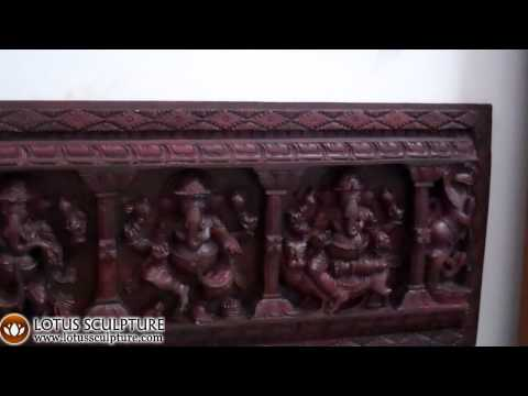 Wood Panel Vishnu's 10 Avatars 73