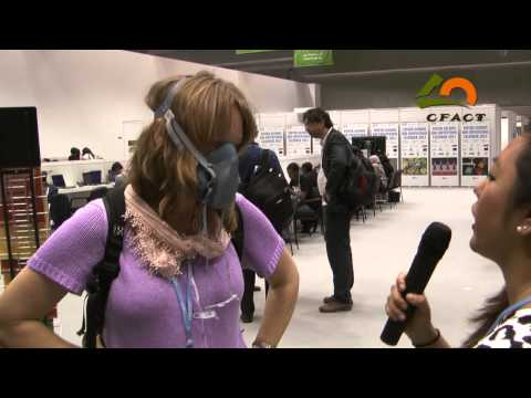 cfact - At COP 18 in Doha, Qatar, CFACT asked the delegates to the UN Climate Change Conference if they would be willing to wear a carbon capture mask that filters o...