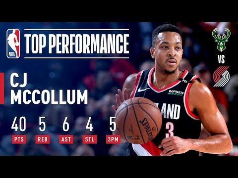 Video: C. J. McCollum Scores 40 Against The Milwaukee Bucks | November 6, 2018