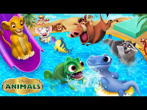 All the Disney Animals are having a pool party! While the Disney Princesses are gone! | Alice Edit!