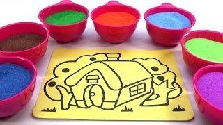 Video Xúc Xắc Xúc Xẽ! Đồ chơi Trẻ em - TÔ MÀU TRANH CÁT NGÔI NHÀ Colored Sand Painting MP3, 3GP, MP4, WEBM, AVI, FLV Juni 2018