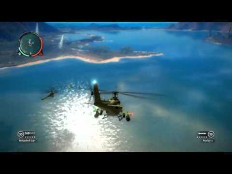Just Cause 2 helicopter fight (видео)