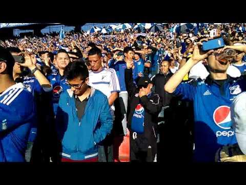 Salida de millonarios 2-0santafe - Comandos Azules - Millonarios