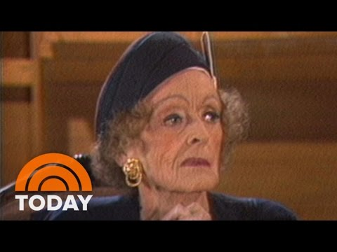 Bette Davis Talks To Bryant Gumbel About Joan Crawford In 1987 Interview | Flashback | TODAY