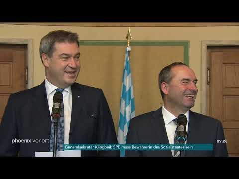 CSU & Freie Wähler: Statements zum Abschluss der Koalitionsverhandlungen am 05.11.18