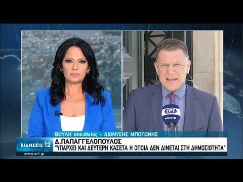 Πολιτική Αντιπαράθεση μετά την κατάθεση Μιωνή στην Προανακριτική   23/06/2020   ΕΡΤ