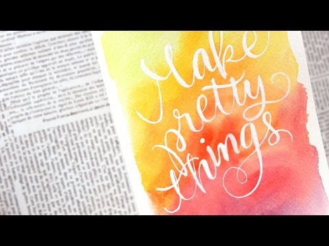 pretty - I got some new watercolor supplies last week and just wanted to play for a little bit. So I created a small 5x7 watercolor painting that I plan to frame and hang up in my craft room. Blog...