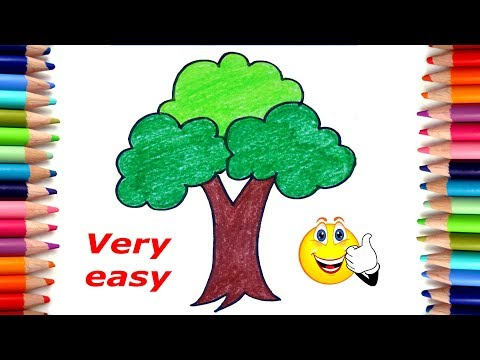How to draw a tree easy | Tree drawing for kids