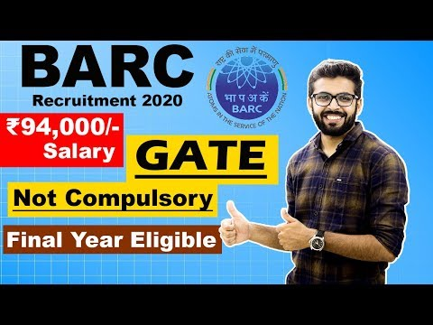 BARC DAE recruitment 2020 | SALARY ₹94,000😮😮 | FINAL YEAR Eligible | NO GATE | OCES/DGFS 2020 BARC