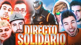 #DirectoSolidario con Youtubers! FORTNITE: Battle Royale