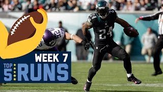 Top 5 Runs (Week 7) | NFL by NFL