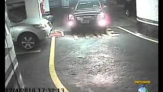 Arrastão em Estacionamento e Cliente não Percebeu Assalto