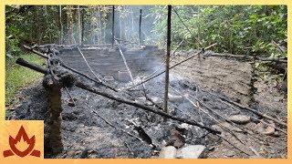 Primitive Technology: Hut burned down, built new one