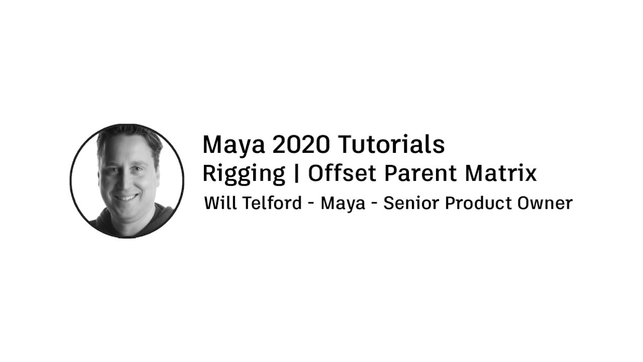 controlling transforms 3d offset parent matrix maya tutorial