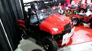 8. 2013 Honda Big Red MUV700D Utility Sise by Side ATV - 2012 Salon National du Quad - Laval, Quebec