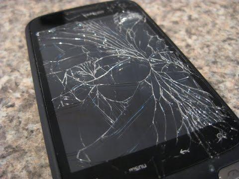 Как сделать разбитый телефон - Модная мама