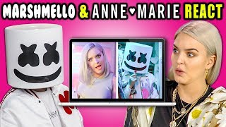 Video MARSHMELLO & ANNE-MARIE REACT TO THEMSELVES (Friends) MP3, 3GP, MP4, WEBM, AVI, FLV Oktober 2018