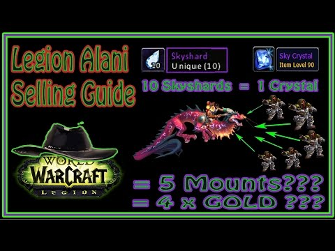 Guide / Tutorial - How to Sell Alani Mount in Legion - 1 Mount = 4 x GOLD?!?! (видео)