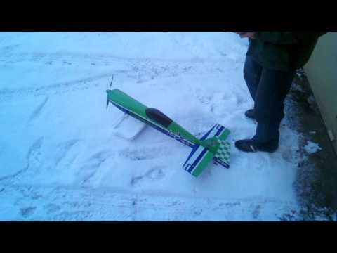 Rc airplane snow ski design 1 - failure