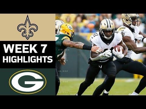 Video: Saints vs. Packers | NFL Week 7 Game Highlights