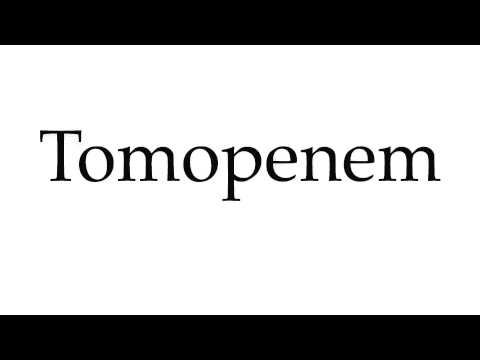 How to Pronounce Tomopenem
