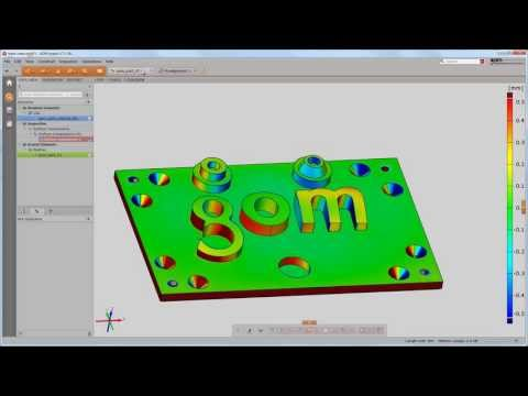 Free GOM Inspect V7.5 Tutorial Episode 3 - Software Concepts