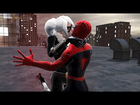 Spider-Man fights Black Cat (Raimi Suit Outfit Mod) - Spider-Man: Web of Shadows